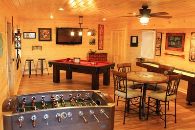 Pool, Shuffleboard, Foosball, Card table, Board Games