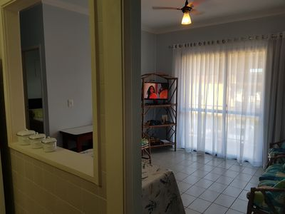 Photo for Charming Apartment w / Balcony in Massaguaçú for 8 people
