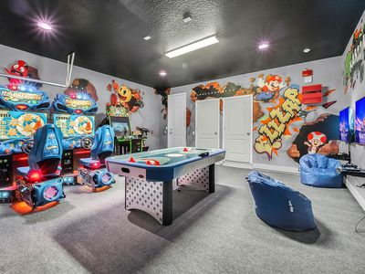 Photo for Brand New 9br, Arcade Machines, Private Pool, Sleep 30
