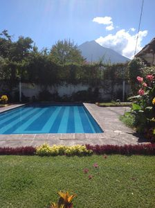 Large swimming pool with Volcano Agua!
