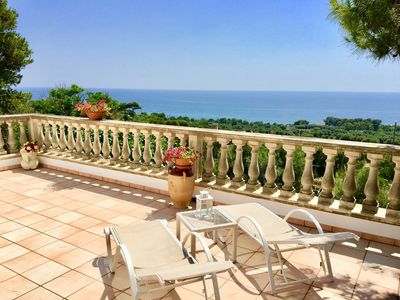Photo for Salento. Charming villa with terrace overlooking the sea and surrounded by nature