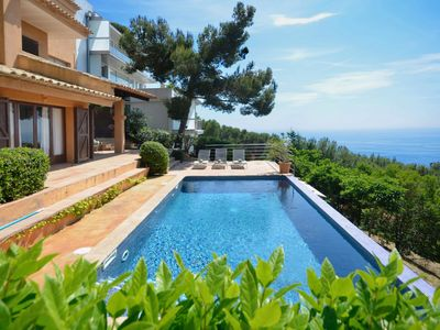 Photo for Fantastic house with excellent sea views, located in the area of Aigua Gelida. It has four