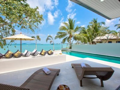 Photo for 7 Bedroom Beautiful Beach Front Villa