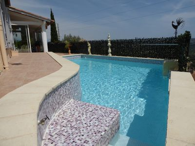 Photo for Villa with private pool and sea view, Mandelieu. Sleeps 5-6.