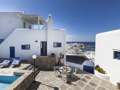 Photo for Mykonos Supreme Town House With Amazing Views, Pool and Private Parking - 2BR