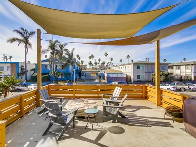 Photo for OB Central:  Modern Upgraded Beach Studio with A/C, 2 Parking Spots and Large Sun-Deck