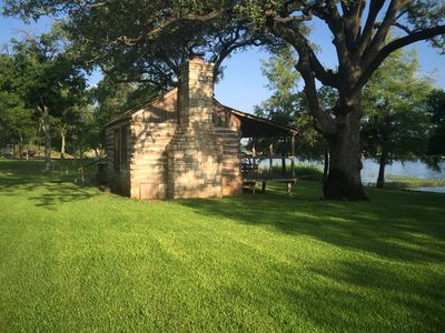 Photo for Historical Log Cabin On Lake LBJ