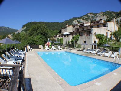 Photo for Rental in residence (former sheepfold) with swimming pool and tennis