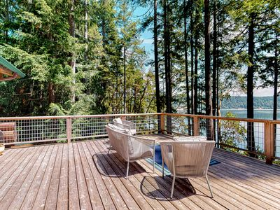 Photo for NEW LISTING! Family friendly home w/ beach access, deck, water views & WiFi!