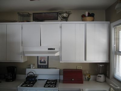 Fully equipped and lots of storage and counter space for getting meals ready.