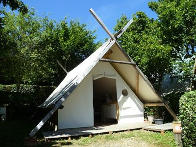 Photo for Camping Pré Fixe **** - Classic Prospector Tent 3 Rooms 4 People
