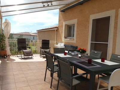 Photo for Villa 120m² Clim - Garden and terrace - 15 min from the sea and Montpellier