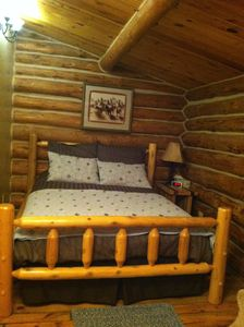 Photo for Peaceful, Secluded Log Cabin Surrounded by B.H. National Forest