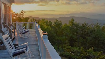 Photo for Romantic Getaway with Unbelievably Stunning, Panoramic Smoky Mountain View