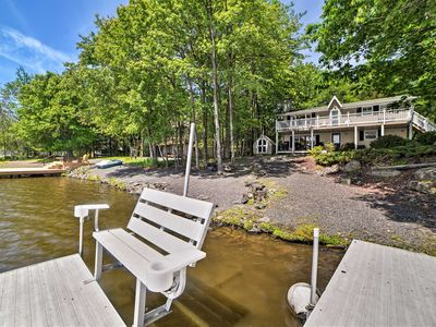 Photo for NEW! Waterfront Pocono Lake Home w/ Private Dock!
