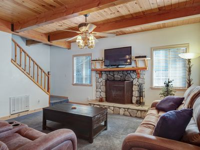 Photo for Dog-friendly, lodge-style home with private hot tub near lake, skiing, & more!