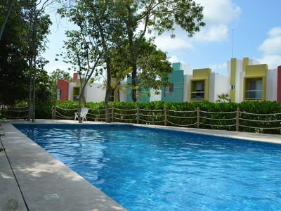 Photo for Cozy house in condominium with 24 hour surveillance,10 min from beach, WIFI free