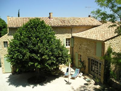 Photo for 19th century Provencal house with pool between Avignon and Uzes