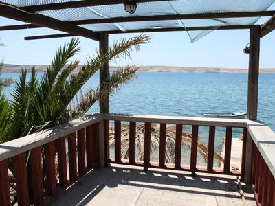 Photo for One bedroom apartment near beach Vidalići, Pag (A-6359-f)