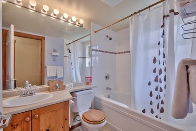 Always Clean and fresh. Due to being an end unit the bathroom also has a window