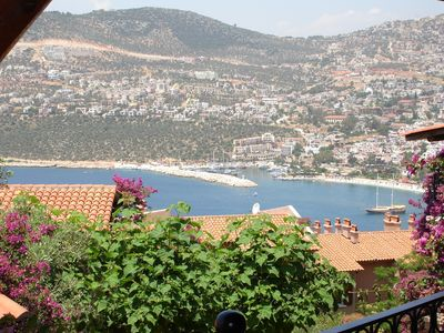 Kalkan view from apartment balcony in high summer