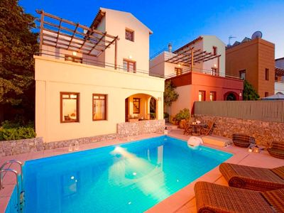 Photo for Luxury villa with private pool located in the sought after village of Plaka