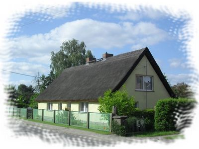 Photo for large detached thatched house with playground and garden in the middle of the natural park