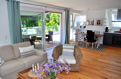 Photo for Exquisite penthouse apartment with fireplace, private sauna, 55sqm roof terrace