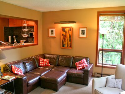 Photo for Snowater Condo #41 - Sauna - WiFi - Fireplace - Sleeps 8