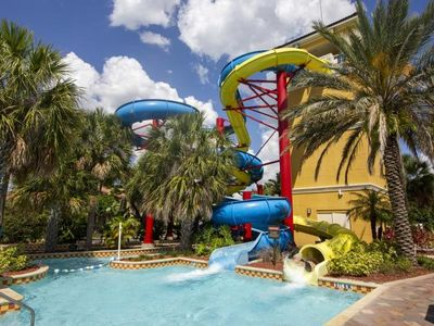 Photo for STAY 3 NIGHTS AND SAVE! UNIQUE 2BR/2BA TOWNHOUSE, WATER SLIDES, POOL
