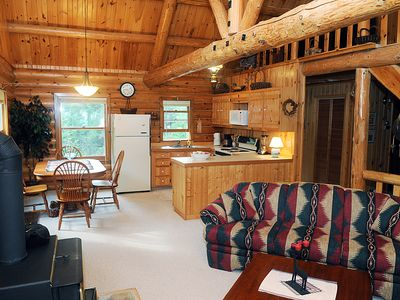 Photo for Sommerset: A beautiful/comfortable log cabin on Lake Michigan with sandy beach