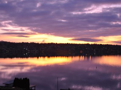 Sunrise over Lake Washington