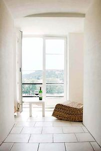 Photo for Magnificent river and vineyard views from romantic studio n Medieval Village.