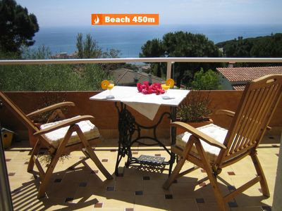 Photo for Bright Villa in Sant Pol de Mar, Barcelona. Five minutes walking to the beach.