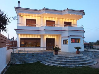 Photo for Luxury Villa In Acharavi With Sea And Mountain View