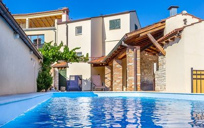 Photo for Ideal villa with private pool, 3 bedrooms, air conditioning, WiFi, BBQ, 2 bathrooms and only 500 meters to the sandy beach