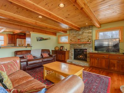 Photo for Upscale, Family-Style Log Home with Mountain Views, Large Yard, 2 Fireplaces, 10 Miles to Sugar Mtn