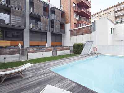 Photo for Apartment Barcelona Rentals- Duplex near Park Güell with swimming pool for 8 pax