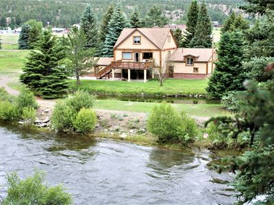 Photo for Great 5 Bedroom home with riverfront property! Beautiful River Access and View