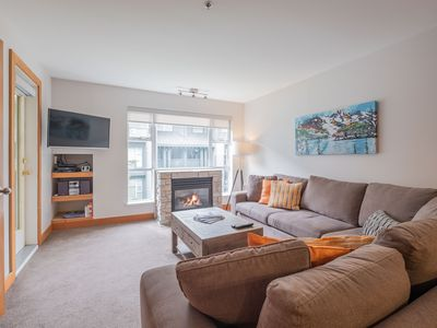 Photo for SKI-IN/SKI-OUT 2BDR Condo with Pool & Hot Tub, At the Base of Blackcomb Mountain