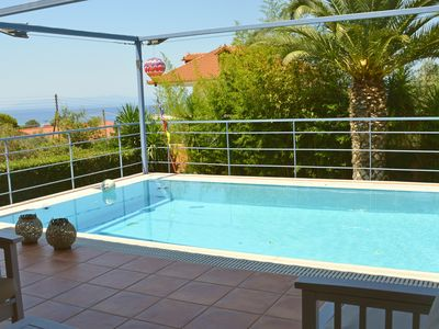 Photo for Relax Small 3bedr. villa with pool near the sea at Mikri Mantineia Kalamata