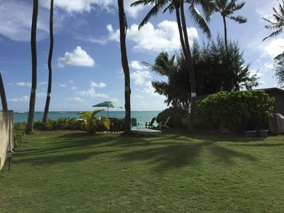 Photo for BEACHFRONT! Barefoot living on the best spot on Lanikai Beach!