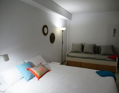 Photo for Estudio interior a  25 metros de la playa - WIFI