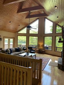 Photo for 4 BR Lakefront Home with Private Dock, Secluded Cove, Fire Pit