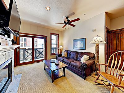 Photo for Great condo in the heart of Breckenridge - steps from the Quicksilver ski lift!