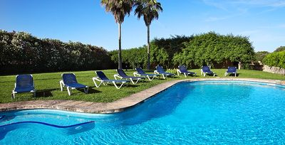 Photo for 8 bedroom Villa, sleeps 16 in Cas Concos with Pool, Air Con and WiFi