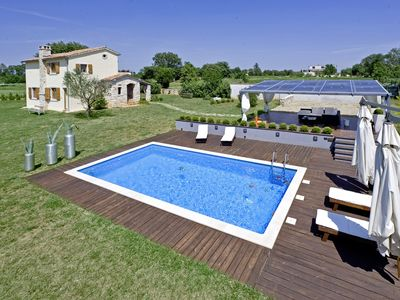Photo for Holiday house Istria Moderna * 3000 m2 garden, private pool, BBQ, WiFi