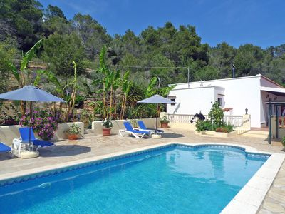 Photo for This 3-bedroom villa for up to 6 guests is located in Sant Carles de Peralta and has a private swimm