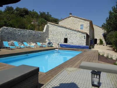 Photo for Spacious stone villa with private pool and gite