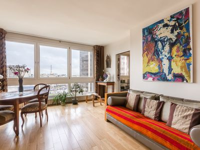 Photo for 3 BR in by the Montparnasse Tower. Access Eiffel Tower in 20 mins (Veeve)